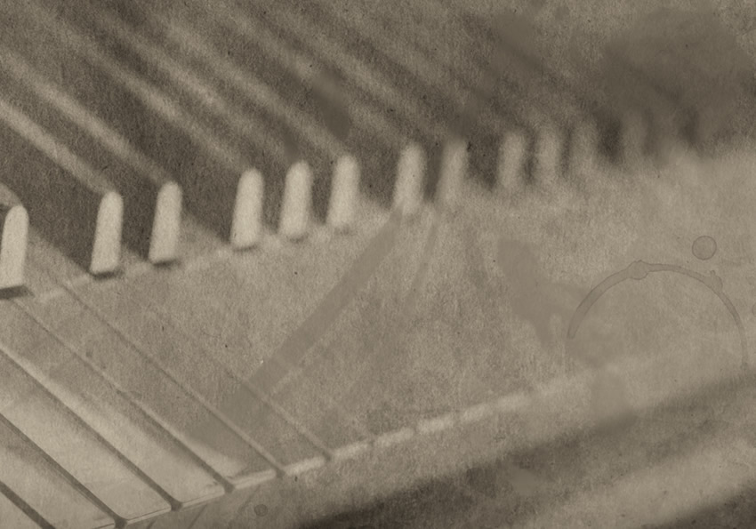dettaglio carta da parati tasti pianoforte