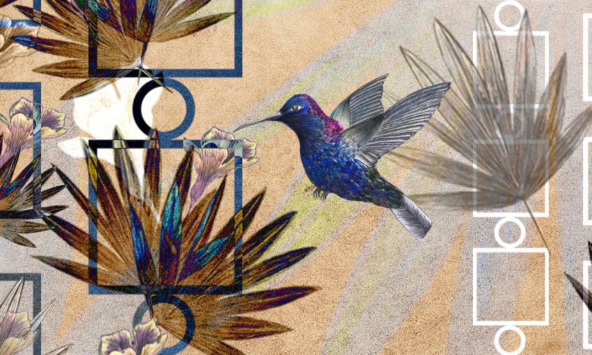 dettaglio carta da parati uccelli in volo