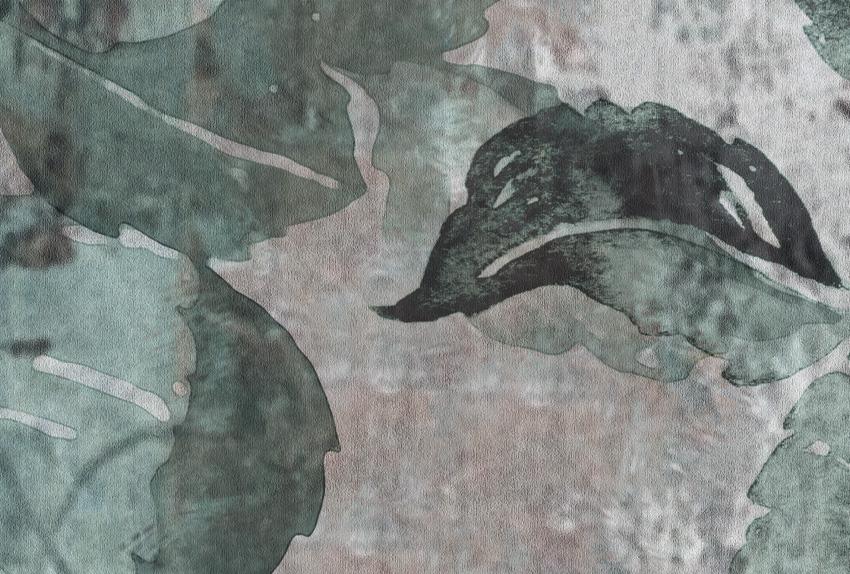 dettaglio carta da parati foglie su tela