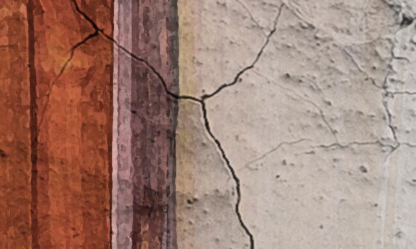 dettaglio carta da parati affresco su muro