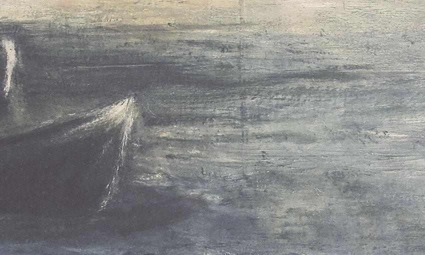 dettaglio carta da parati barche nel mare