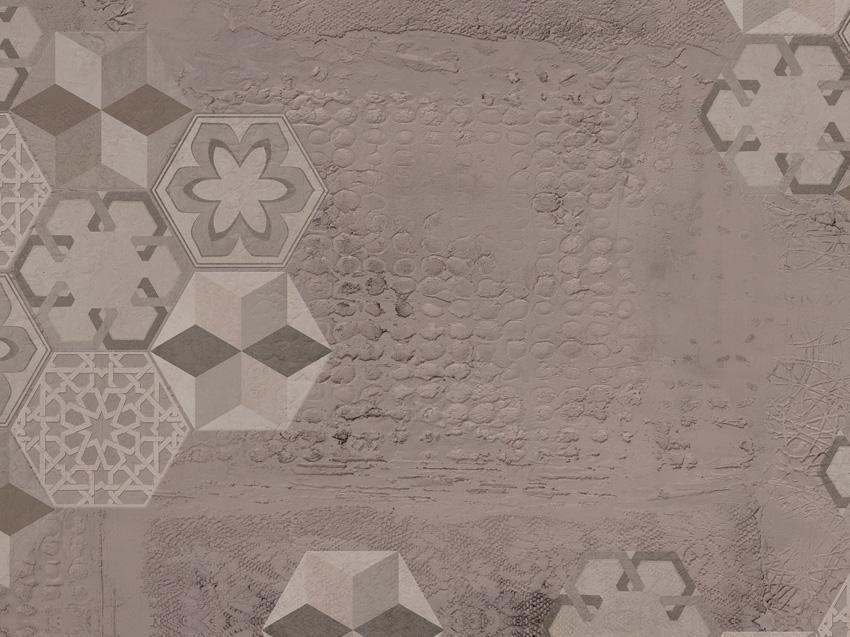dettaglio carta da parati cementine esagono