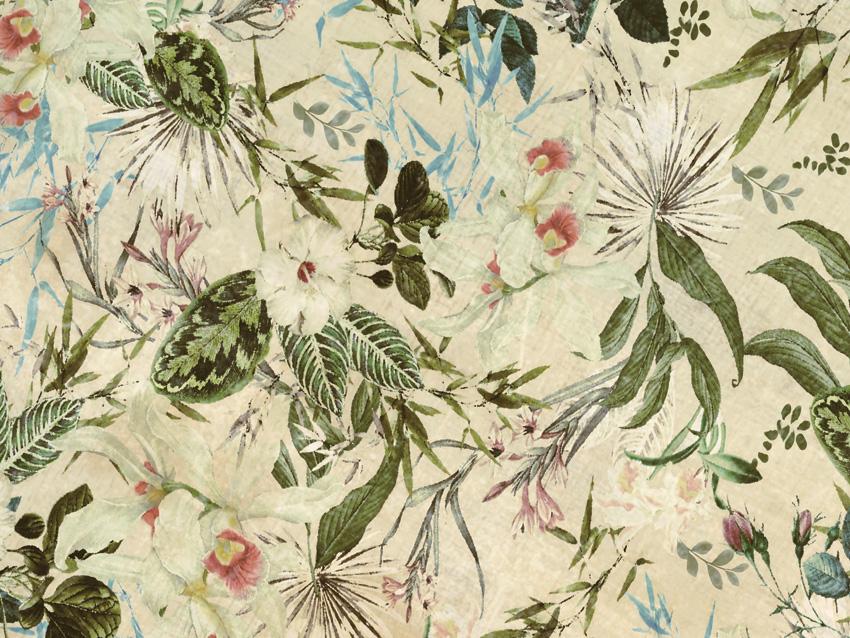 dettaglio carta da parati fiori tropicali