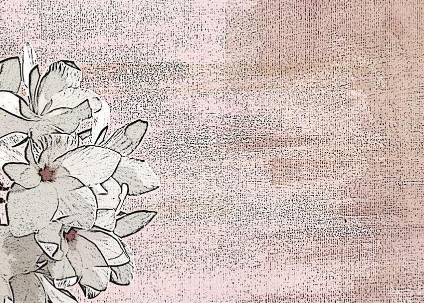dettaglio carta da parati fiori disegnati