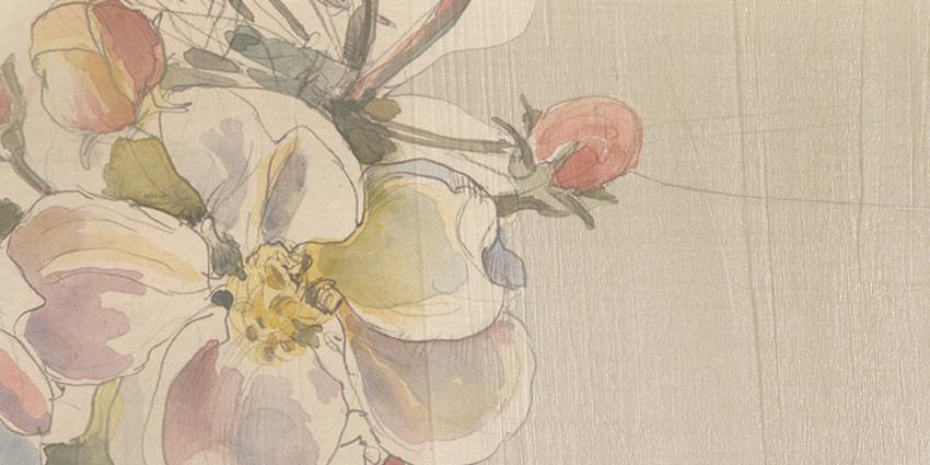 dettaglio carta da parati disegni floreali
