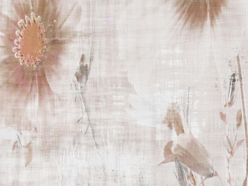 dettaglio carta da parati fiori di campo