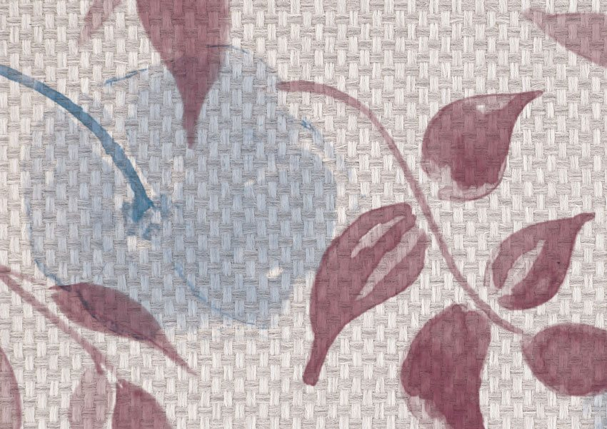 dettaglio carta da parati floreale