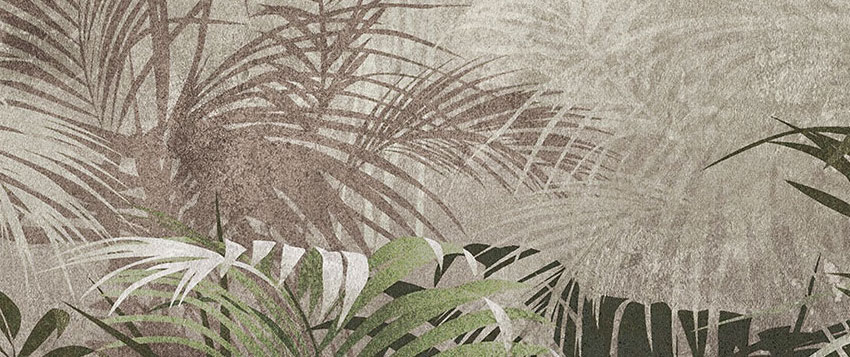 dettaglio carta da parati foresta tropicale