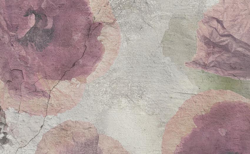 dettaglio carta da parati muro floreale