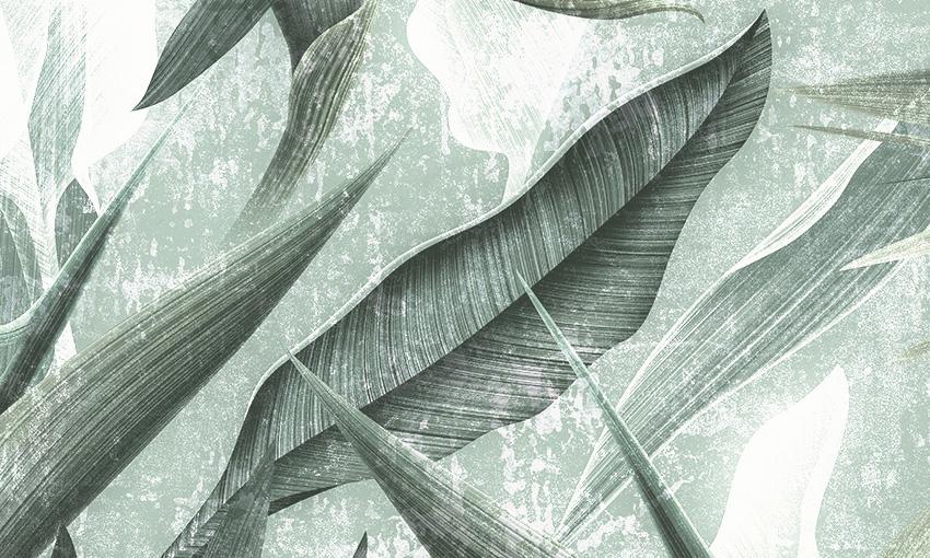 dettaglio carta da parati pianta esotica