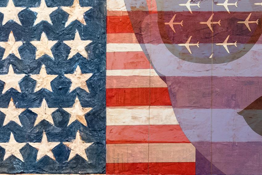 dettaglio carta da parati bandiera americana