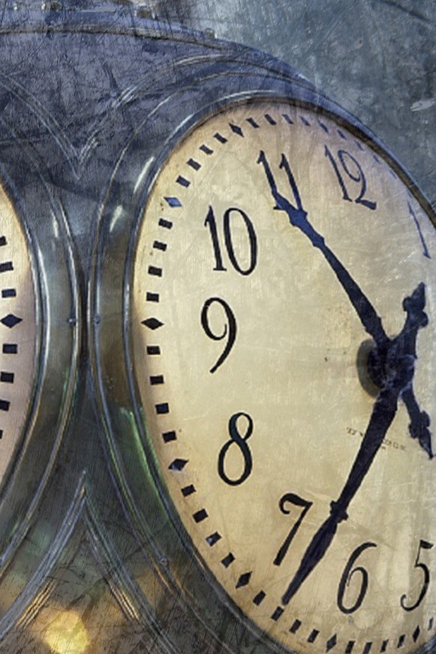 dettaglio carta da parati orologi