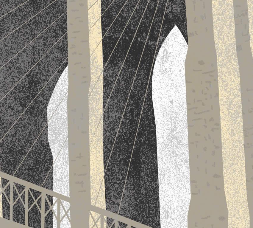 Dettaglio del ponte costruito dall'ingegnere tedesco John Augustus Roebling