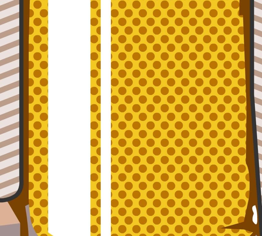 Dettaglio della carta da parati che raffigura la birra