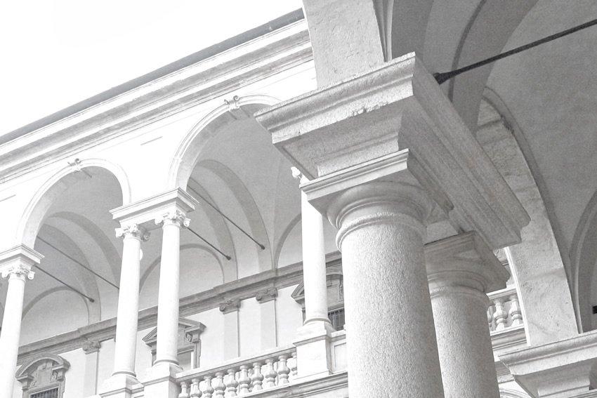 dettaglio carta da parati colonne