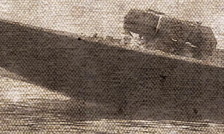 dettaglio carta da parati barca classica