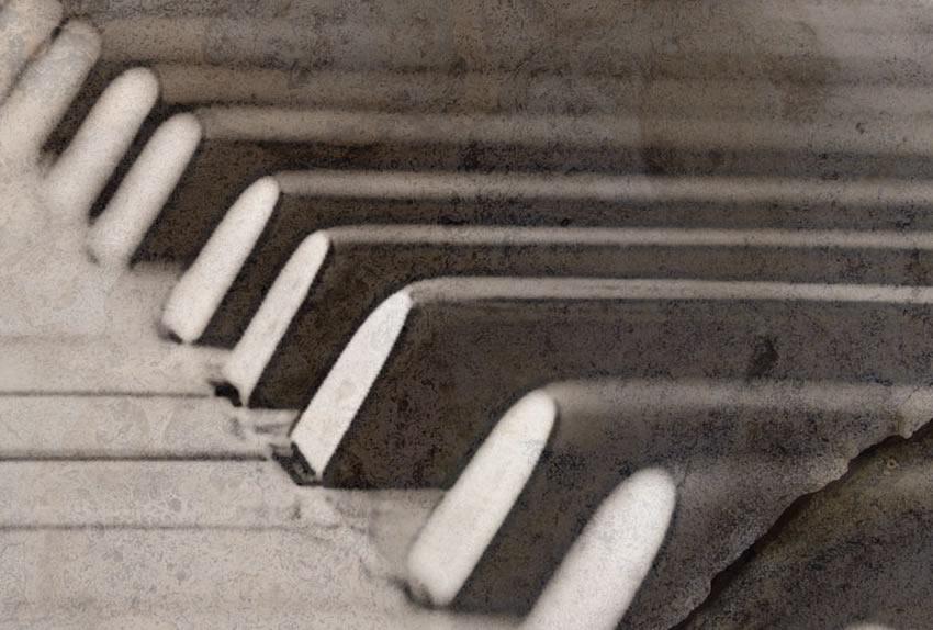 dettaglio carta da parati pianoforte