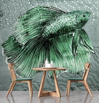 carta da parati pesce