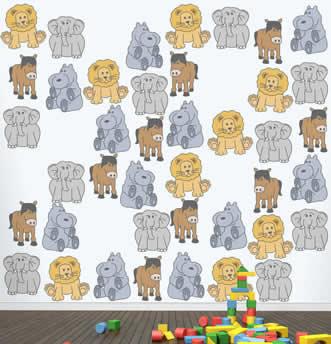 Carta con disegni di pupazzi