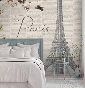 Carta da parati sognando Parigi