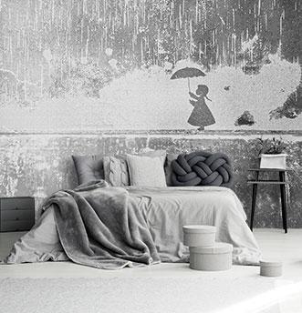 Carta da parati effetto cemento tappezzeria con aspetto muro for Carta da parati effetto muro rovinato