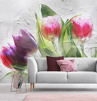 carta da parati tulipani stucco