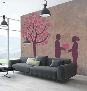 decoro moderno con soggetto colorato