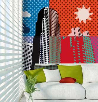 carta da parati con i grattacieli di new york
