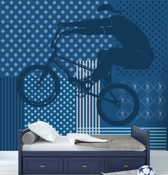 carta da parati con oggetto dell'espressione artistica la bicicletta
