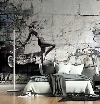 Carta da parati balilla, immagine vintage perfetta per un appartamento