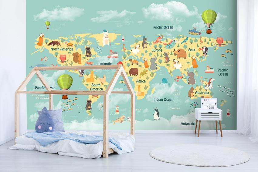 Mondo bambini carta da parati bambini for Carta parati mondo