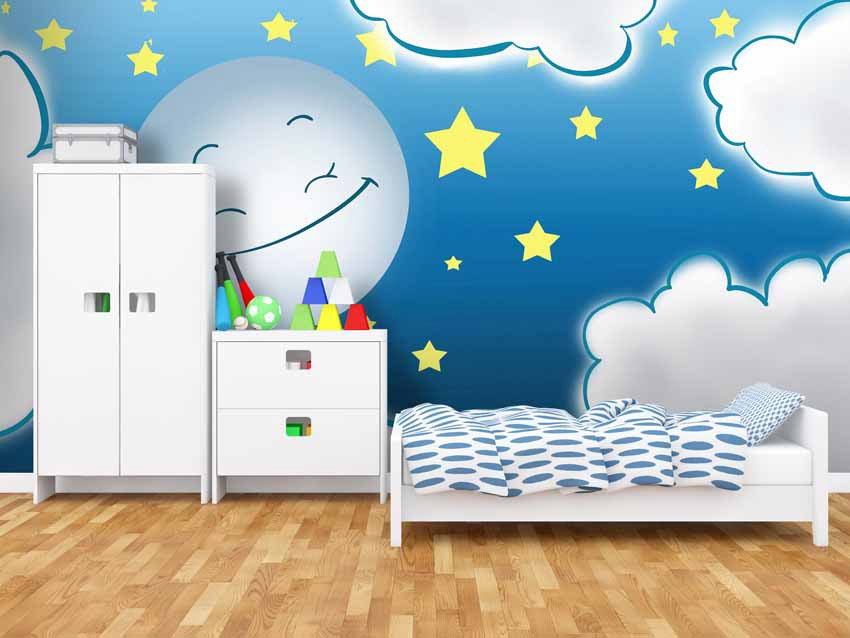 Sogni d oro carta da parati bambini for Carta da parati cameretta bimba