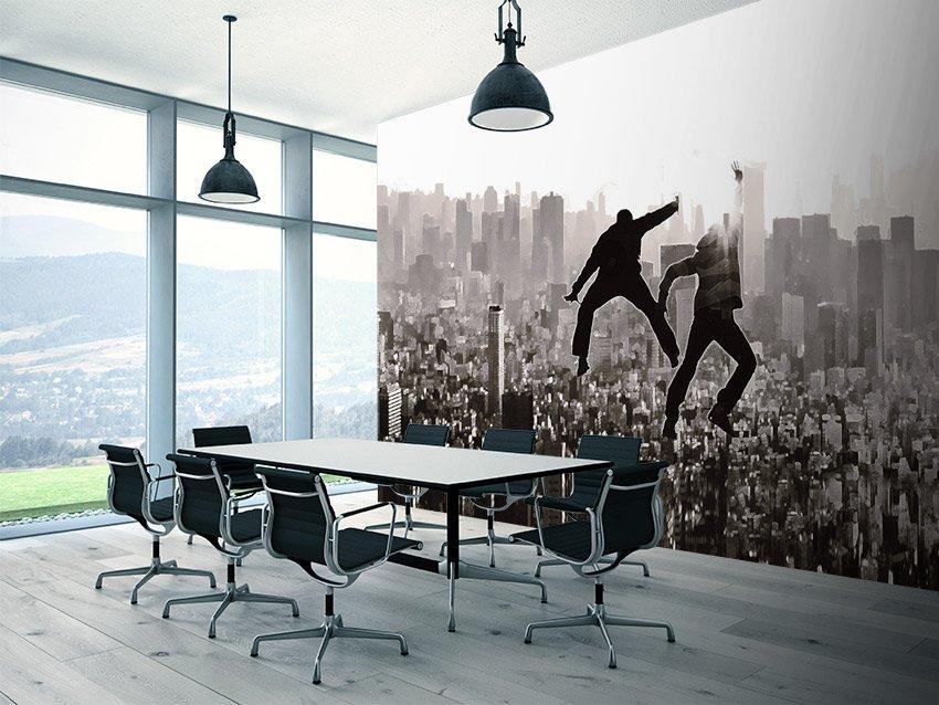 Danza su metropoli carta da parati ufficio for Carta da parati per ufficio