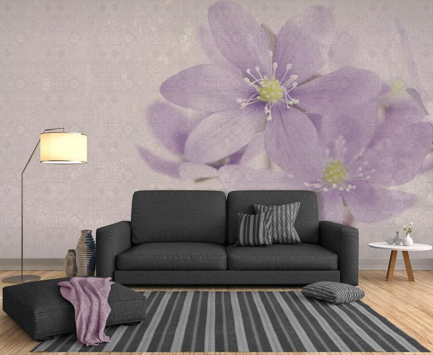 Carta da parati a fiori design parati floreali di design - Camera da letto con carta da parati ...