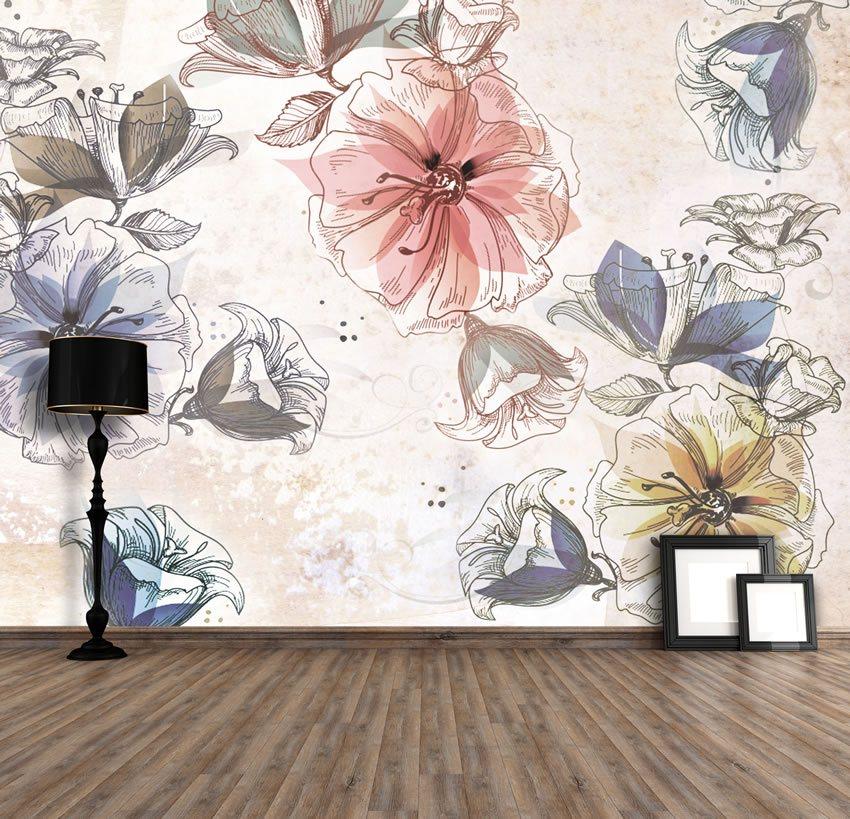 Carte da parete with carte da parete carte da parati con for Carta parati fiori