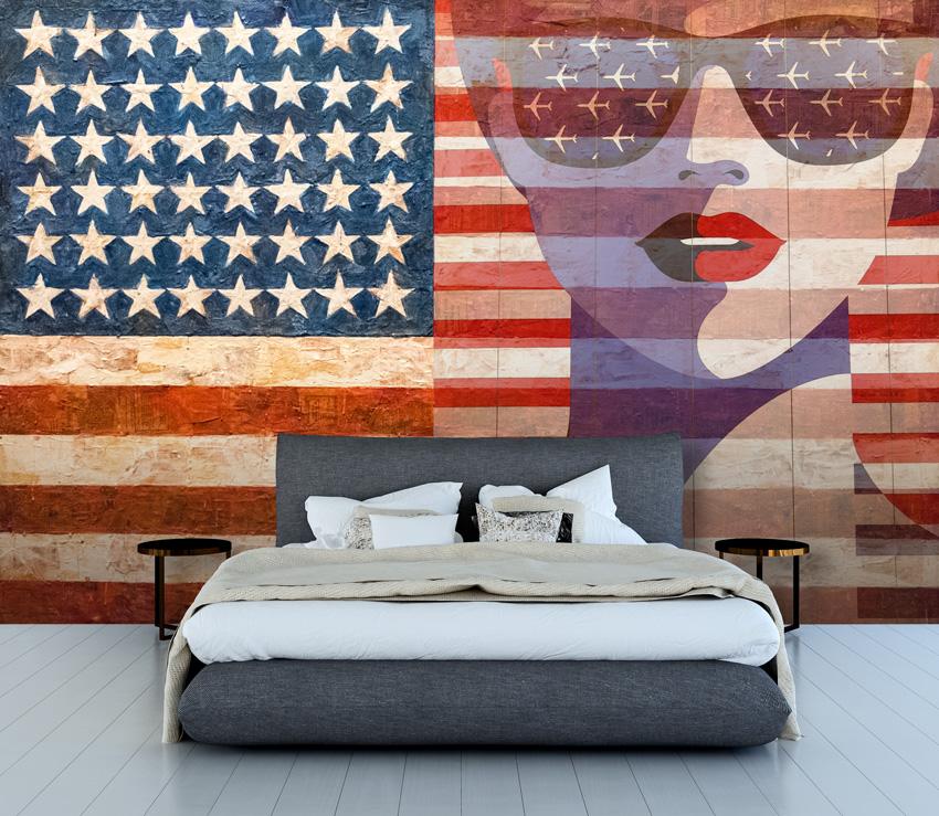parati bandiera americana