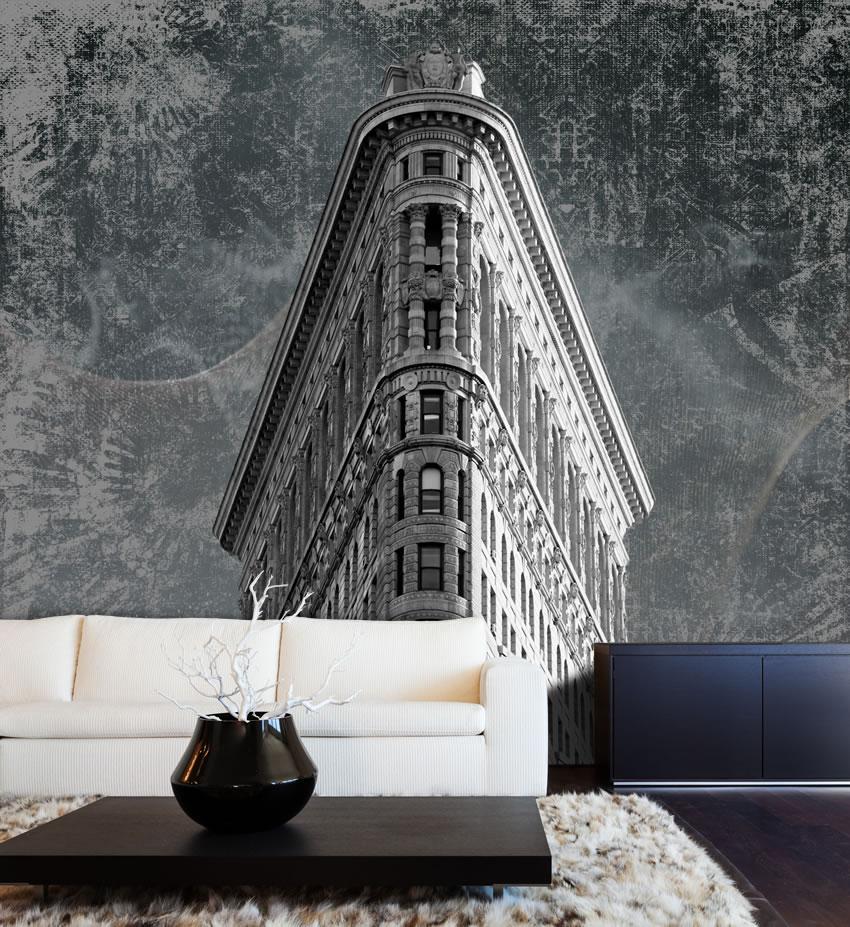 Tessuto non tessuto incollato su muro che raffigura Il Fuller Building