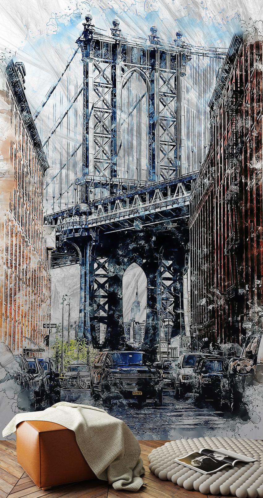parati pioggia a new york