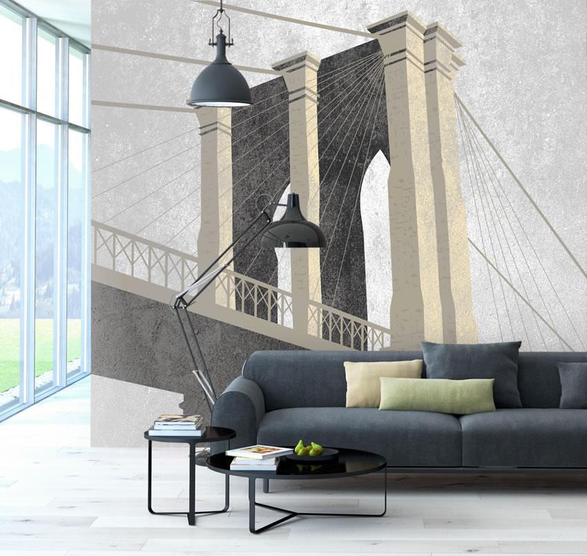 Immagine del ponte di New York che attraversa il fiume East River