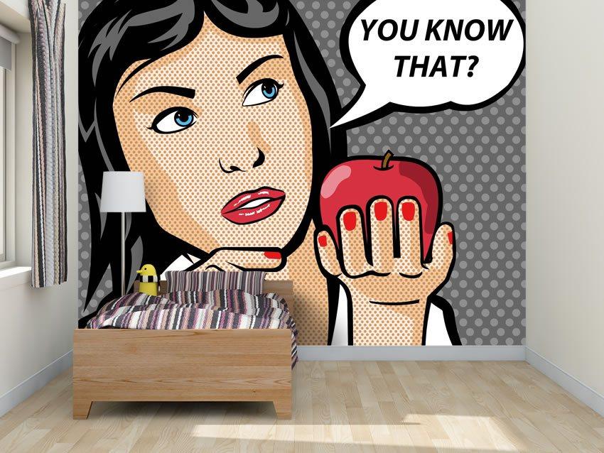 Tessuto non tessuto incollato su parete di una camera