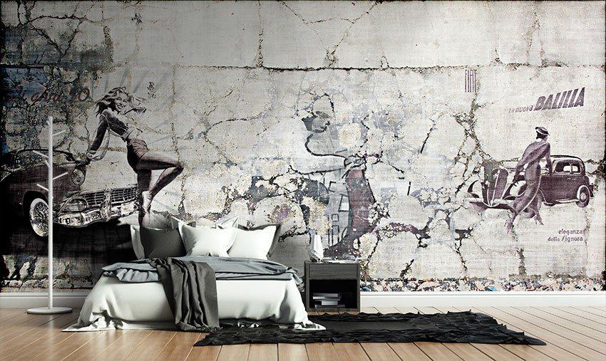Grafica della carta incollata a muro di un appartamento