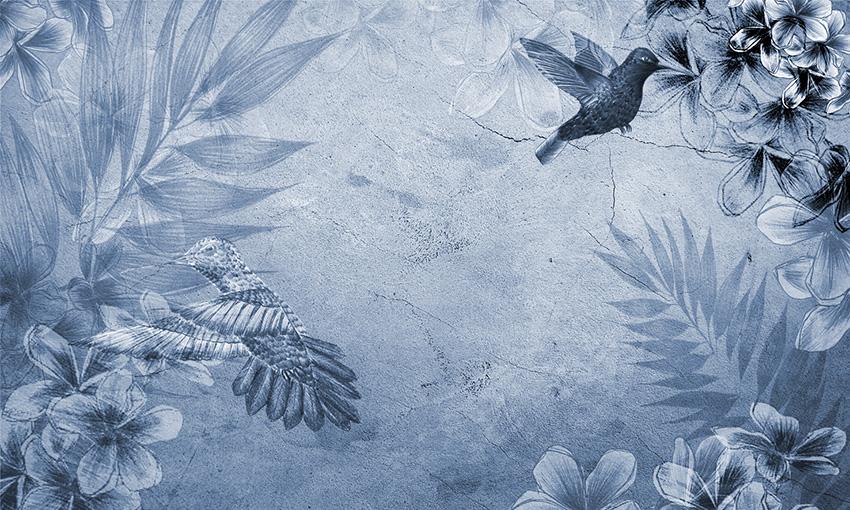carta da parati colibri colore 3