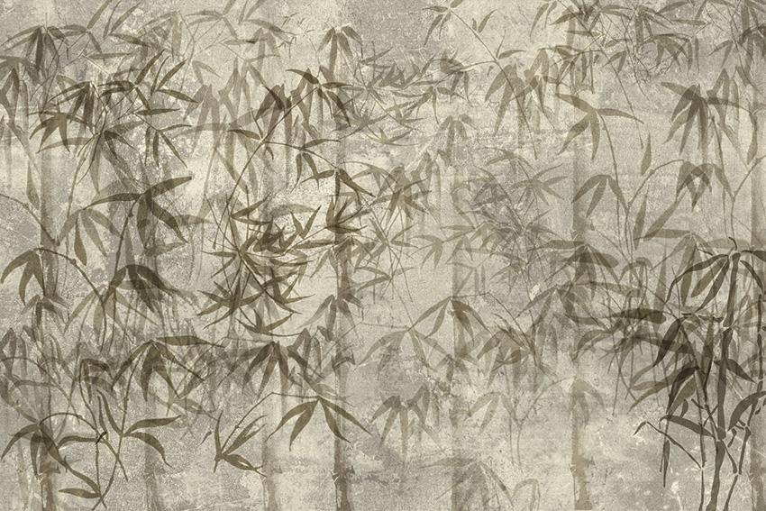 Colorazione 3 della carta da parati Bambù