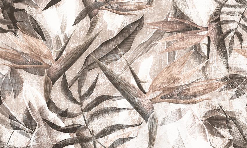 carta da parati pianta esotica colore 3