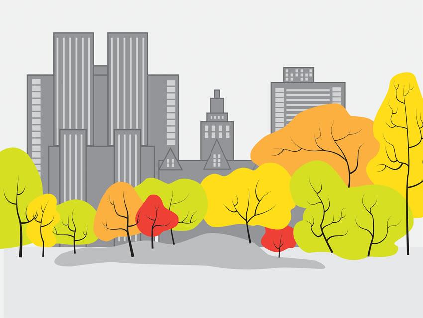 Colorazione 3 della carta da parati Central park