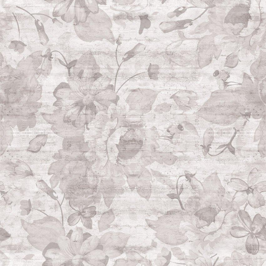 carta da parati rose e cemento grigio