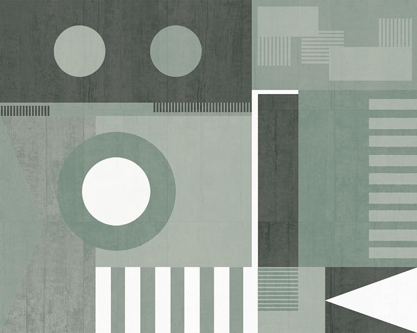 Colorazione 3 della carta da parati Bauhaus style