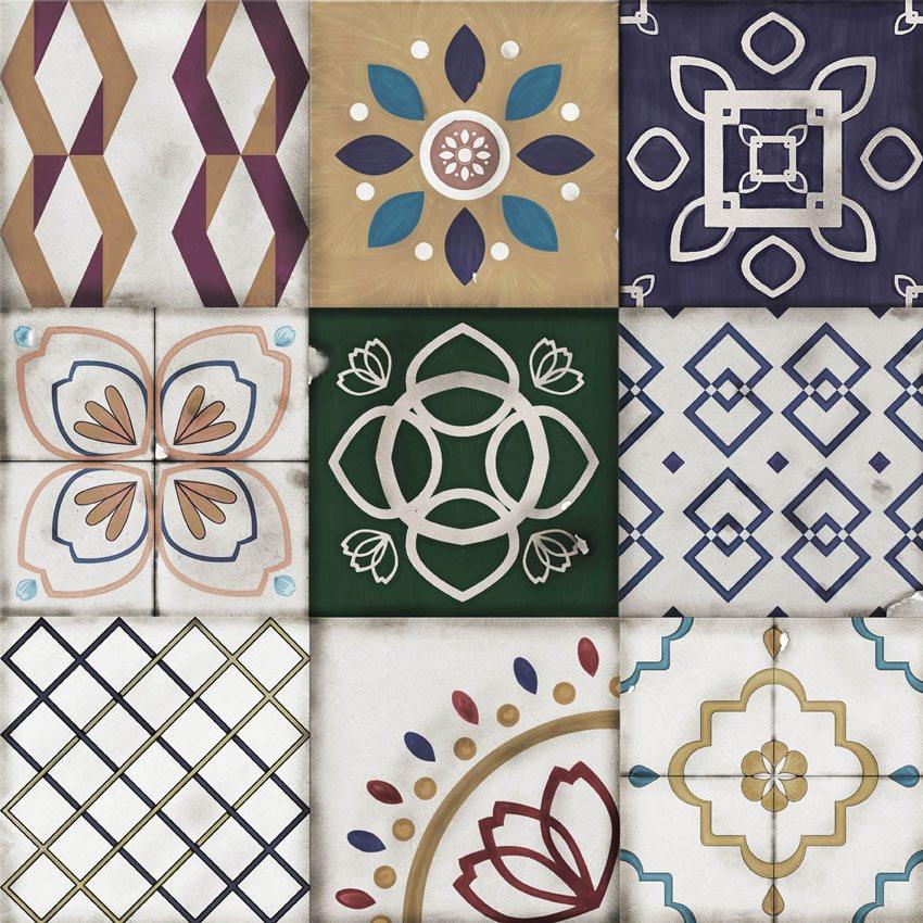 carta da parati ceramiche con saturazione colori