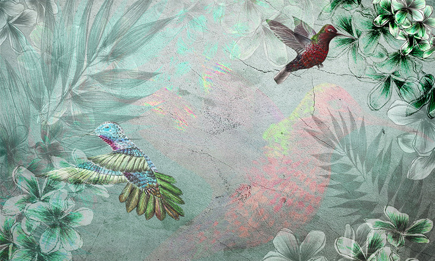 carta da parati colibri colore 5