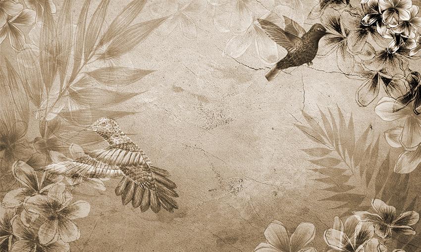 carta da parati colibri colore 4